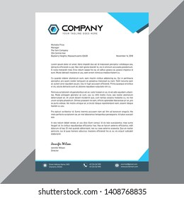 Business style letter head templates for your project design, Vector illustration, modern flat style letterhead template design. - Vector