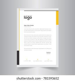 letter heading design