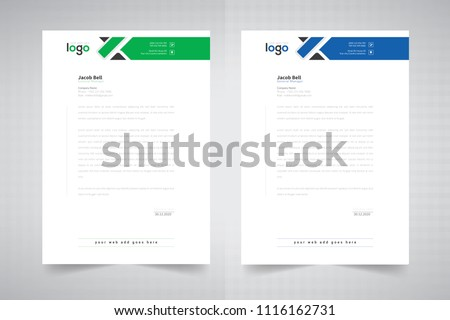 business style letter head templates your のベクター画像素材