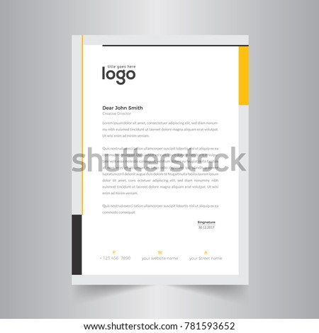 business style letter head templates your stock vector royalty free