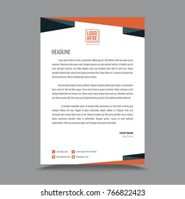 Business style letterhead design