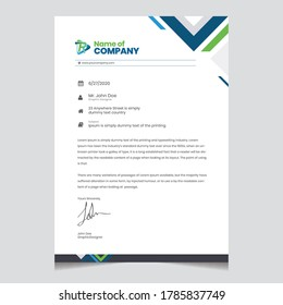 Business style letterhead design template