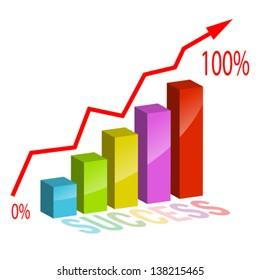 Business success concept, vector illustration