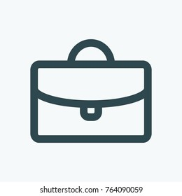 Business suitcase vector icon