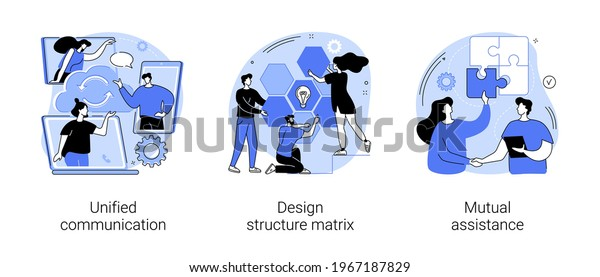 Business support abstract concept vector illustrations.