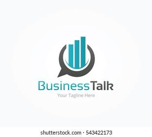 Business Talk Logo Template