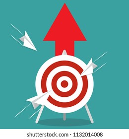Business targeting concept. Strategy, project management. Vector icon