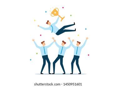 Business Team Celebrating Concept, Champion