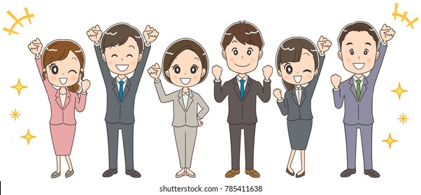 A business team composed of various generations.