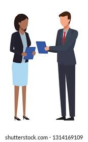 business team conversation faceless