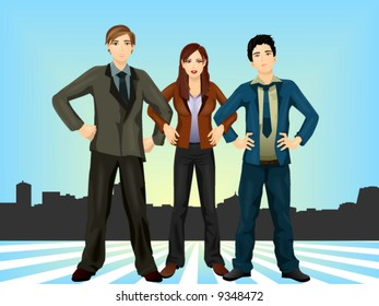Business Team - Detailed, Vector