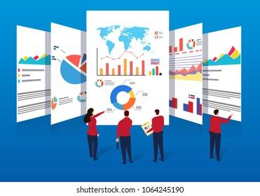 Business team doing data analysis