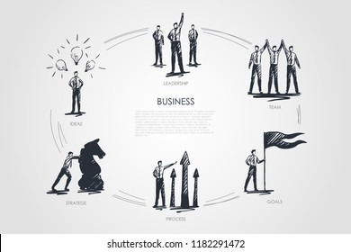 Business, team, goals, stratege, ideas, leadership