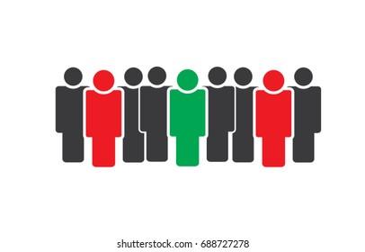 Business team leaders people group simple illustration
