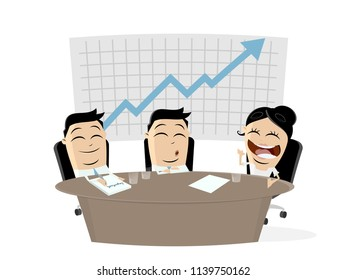 business team in meeting clipart