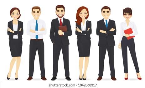 Business team set