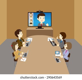 Business team, WEB conference