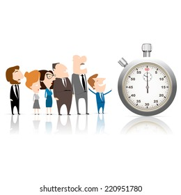 business team work and stopwatch