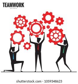 Business teamwork, Businessman silhouette, Business Concept vector 10