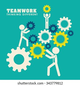 Business teamwork and leadership graphic design, vector illustration eps 10