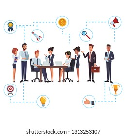 business teamwork networking