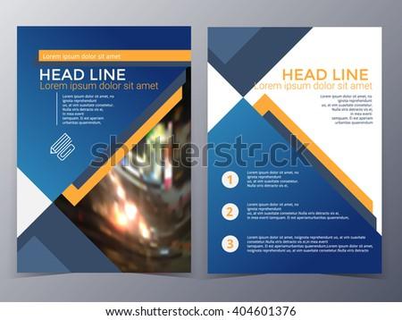 Business Technology Brochure Design Template Vector Stock Vector