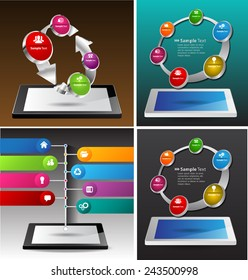 Business technology bubble speech template style. cycle text box template for website computer graphic and internet. time line. many, various