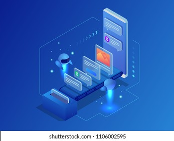 Business, technology, internet and networking concept. Content strategy, content marketing, writing, distribution vector illustration