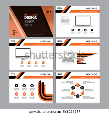 Business template design set presentation brochure stock vector business template design set presentation and brochure annual report flyer page with infographic element accmission Image collections