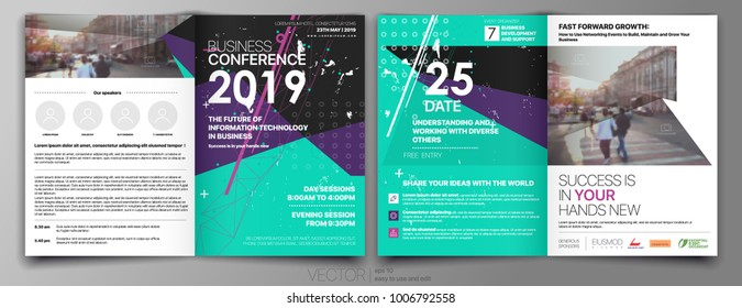 Business Template for Flyer Design Annual report Portfolio Booklet Brochures Layout Leaflet Magazine. Stock vector