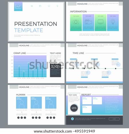 business template presentation meeting teamwork element stock vector