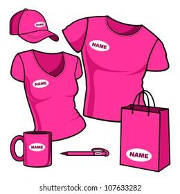 Business template. T-shirt men and women.