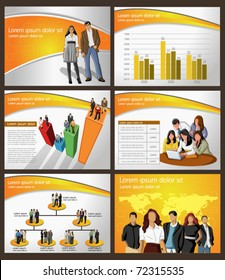 Business Template. Vector illustration.