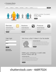 Business template web site.