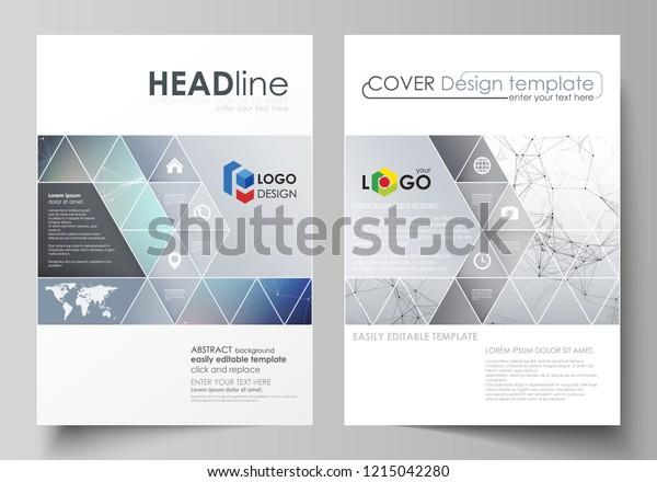 Business Templates Brochure Magazine Flyer Cover Stock Vector