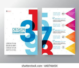Business templates creative design : Abstract Swiss style graphic background for Brochure cover Flyer Poster design Layout vector template