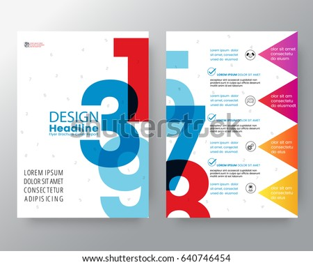 business templates creative design abstract swiss style graphic background for brochure cover flyer poster design