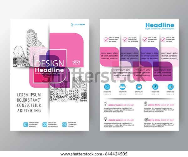 business templates creative design abstract pink cross graphic element vector brochure cover flyer poster design