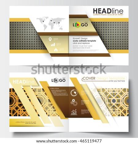 business templates square design brochure magazine のベクター画像