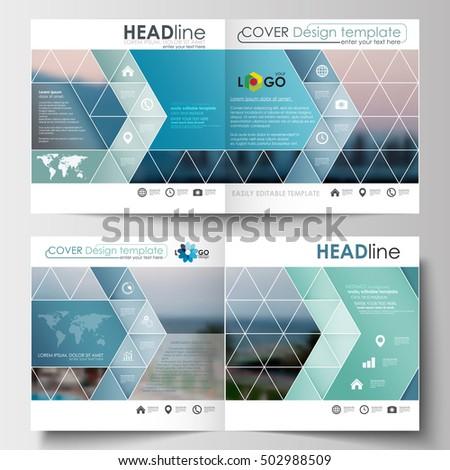 business templates square design brochure magazine stock vector