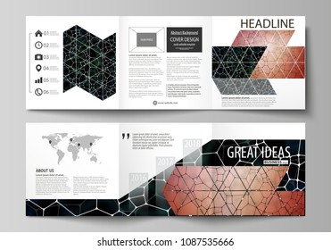 business templates square design bi fold stock vector royalty free