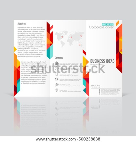 business templates trifold brochures annual report stock vector