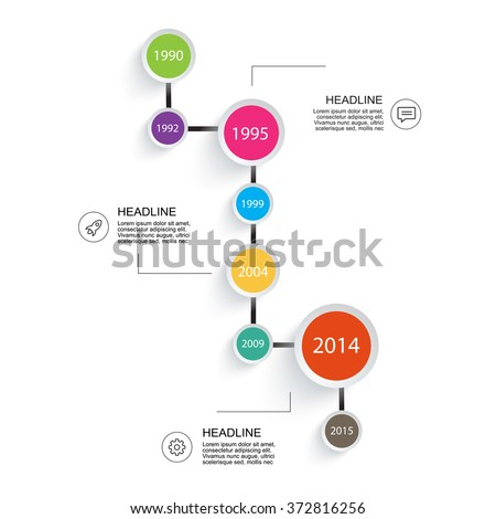 business timeline infographic your project report stock vector