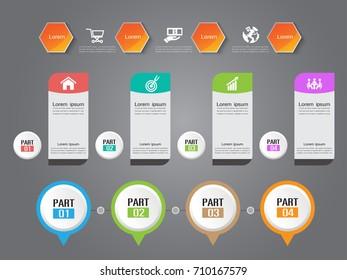 business timeline. organization. Part infographic
