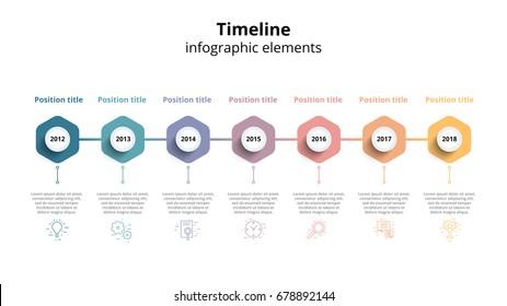 business timeline workflow infographics corporate milestones の