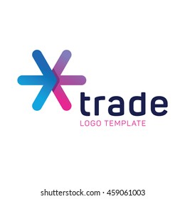 Business trade logo template