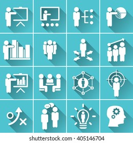 Business Training And Learning Icon Set