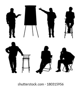 Business training silhouettes