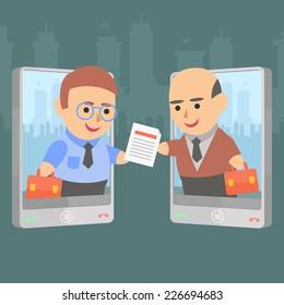 Business Transaction phone