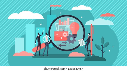 Business transparency vector illustration. Flat tiny honest ethics person concept. Simple and creative symbol for information sharing, financial clarity, anti corruption strategy and cooperation trust